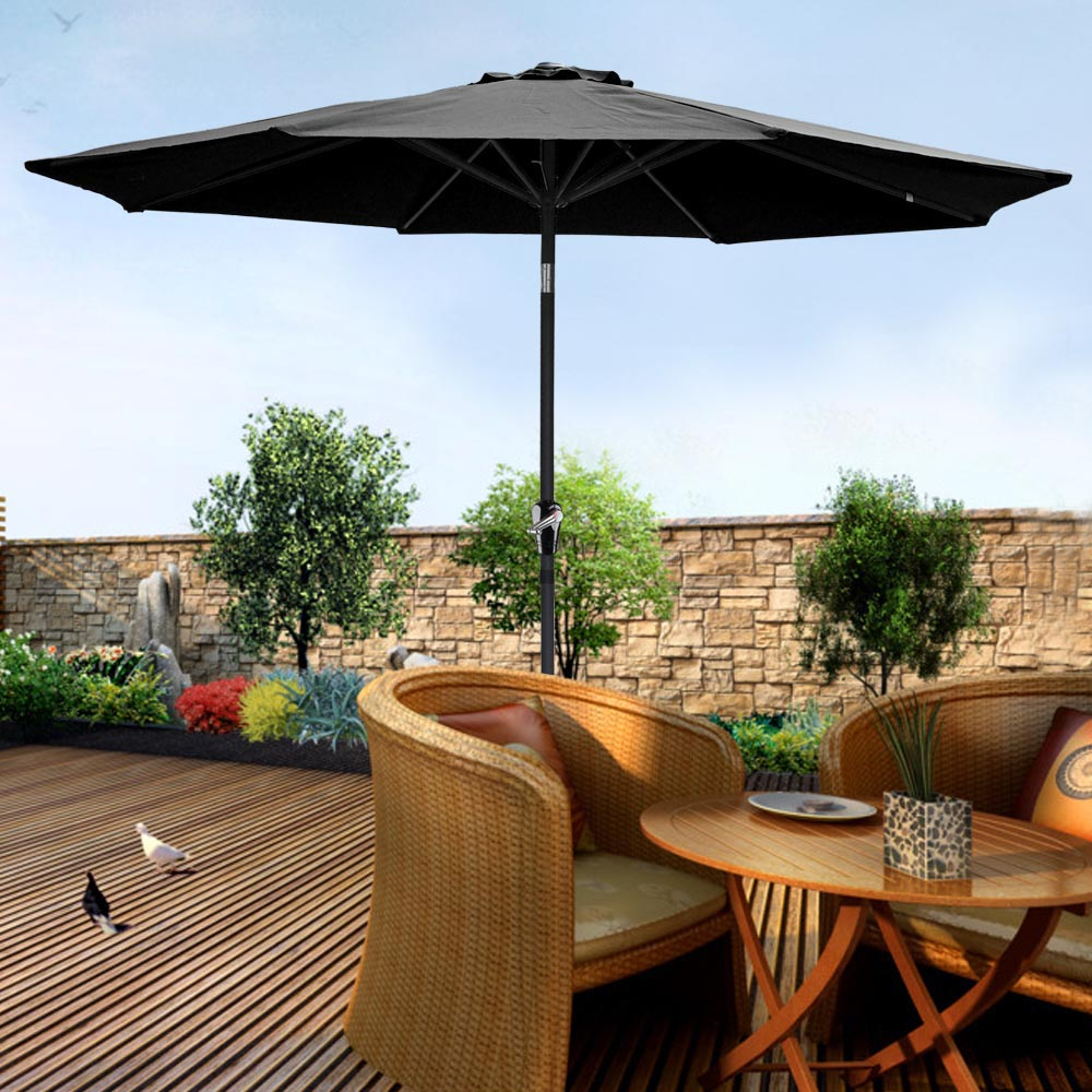 2-5m-2-7m-3m-Round-Square-Garden-Parasol-Shade-Outdoor-Patio-Umbrella-Crank-Tilt thumbnail 100