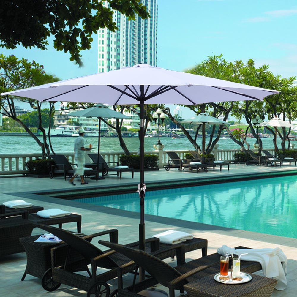 2-5m-2-7m-3m-Round-Square-Garden-Parasol-Shade-Outdoor-Patio-Umbrella-Crank-Tilt thumbnail 129