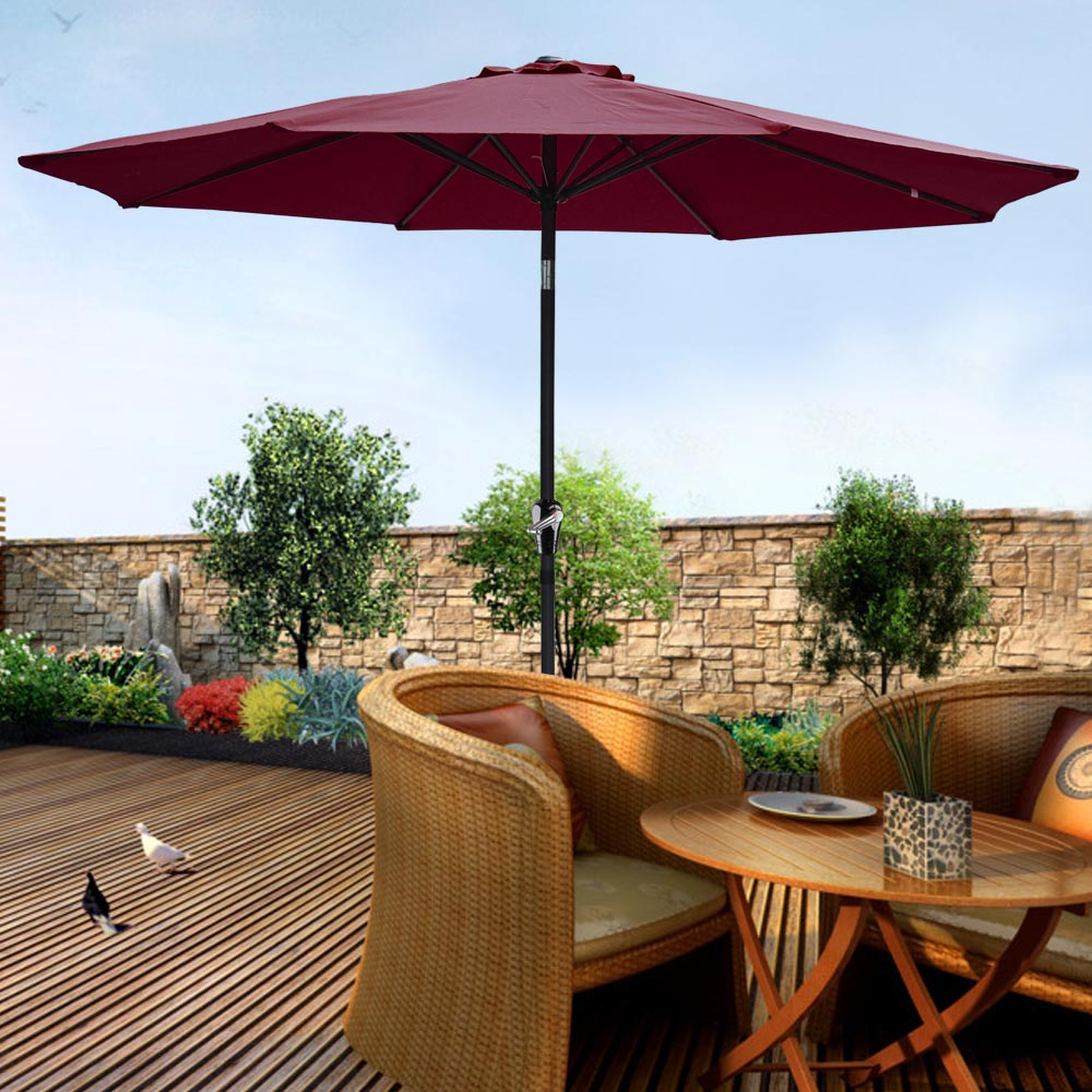 2-5m-2-7m-3m-Round-Square-Garden-Parasol-Shade-Outdoor-Patio-Umbrella-Crank-Tilt thumbnail 134