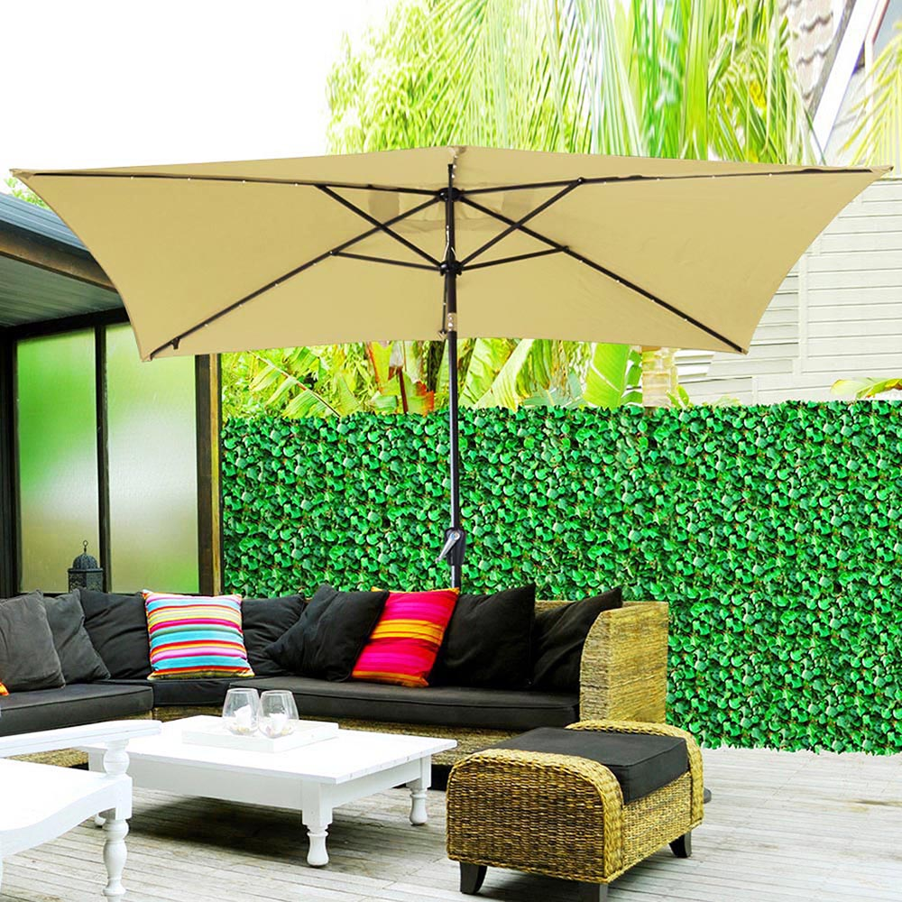 2-5m-2-7m-3m-Round-Square-Garden-Parasol-Shade-Outdoor-Patio-Umbrella-Crank-Tilt thumbnail 180