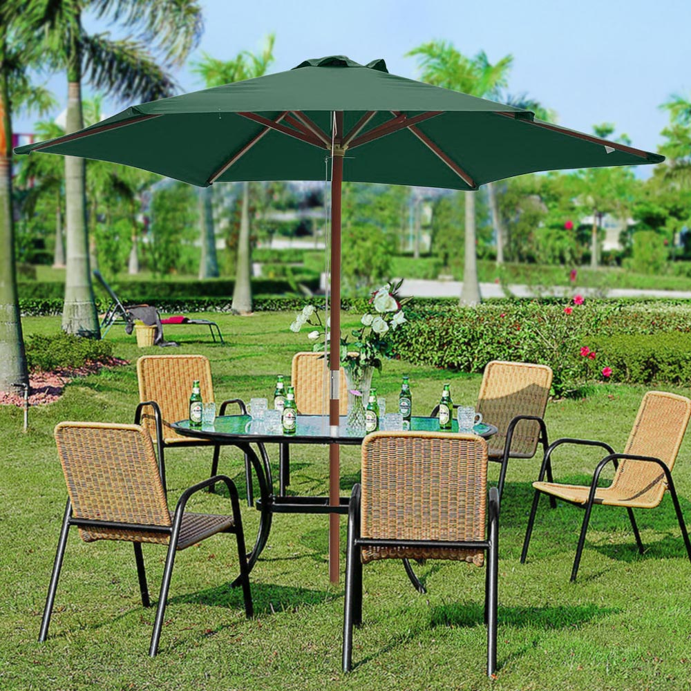 2-5m-2-7m-3m-Round-Square-Garden-Parasol-Shade-Outdoor-Patio-Umbrella-Crank-Tilt thumbnail 23