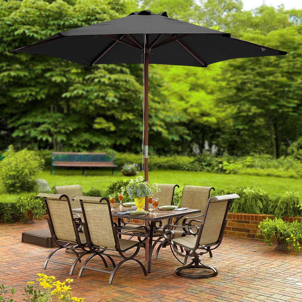 2-5m-2-7m-3m-Round-Square-Garden-Parasol-Shade-Outdoor-Patio-Umbrella-Crank-Tilt thumbnail 15
