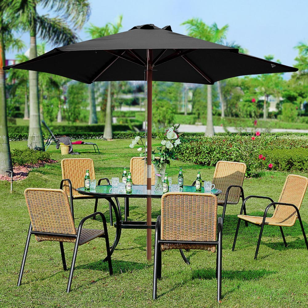2-5m-2-7m-3m-Round-Square-Garden-Parasol-Shade-Outdoor-Patio-Umbrella-Crank-Tilt thumbnail 16