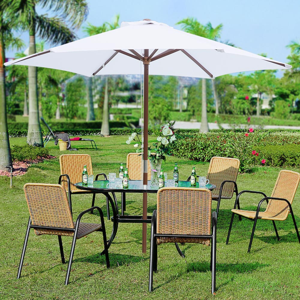 2-5m-2-7m-3m-Round-Square-Garden-Parasol-Shade-Outdoor-Patio-Umbrella-Crank-Tilt thumbnail 29