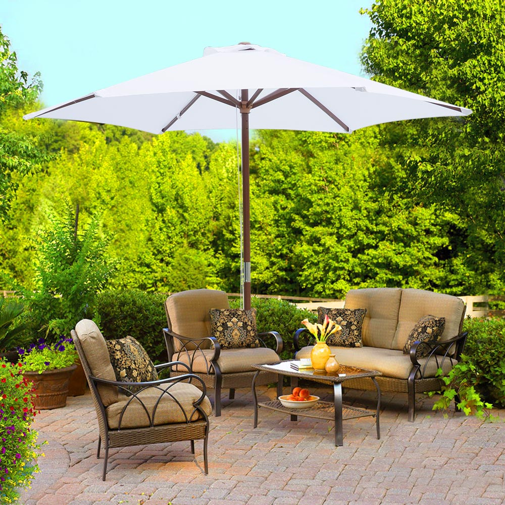 2-5m-2-7m-3m-Round-Square-Garden-Parasol-Shade-Outdoor-Patio-Umbrella-Crank-Tilt thumbnail 30