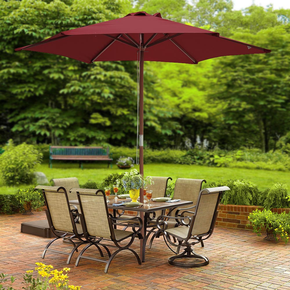 2-5m-2-7m-3m-Round-Square-Garden-Parasol-Shade-Outdoor-Patio-Umbrella-Crank-Tilt thumbnail 38