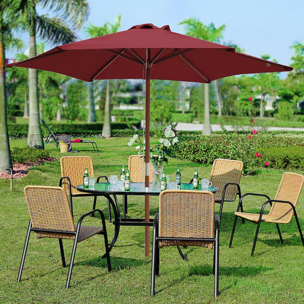 2-5m-2-7m-3m-Round-Square-Garden-Parasol-Shade-Outdoor-Patio-Umbrella-Crank-Tilt thumbnail 37