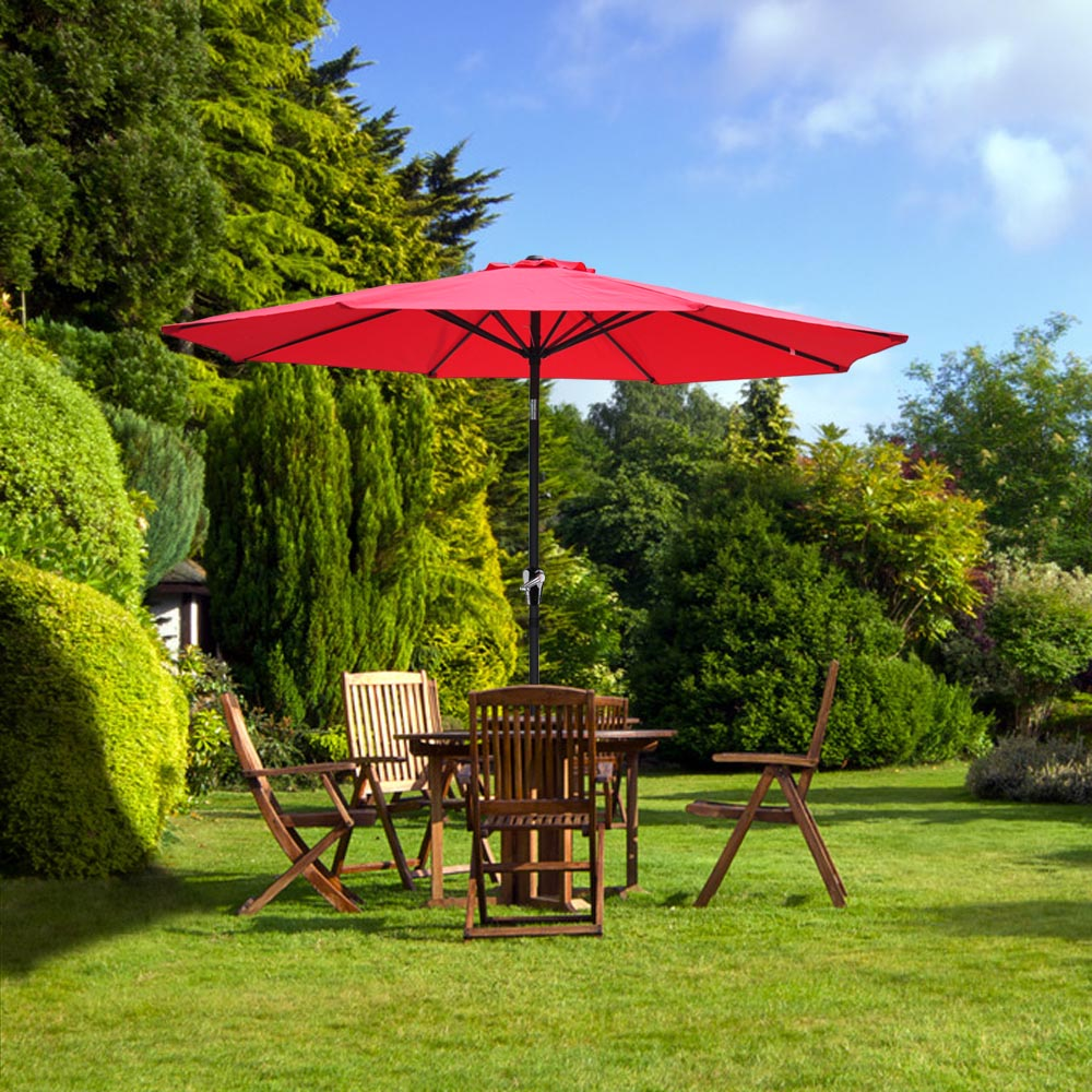 2-5m-2-7m-3m-Round-Square-Garden-Parasol-Shade-Outdoor-Patio-Umbrella-Crank-Tilt thumbnail 117