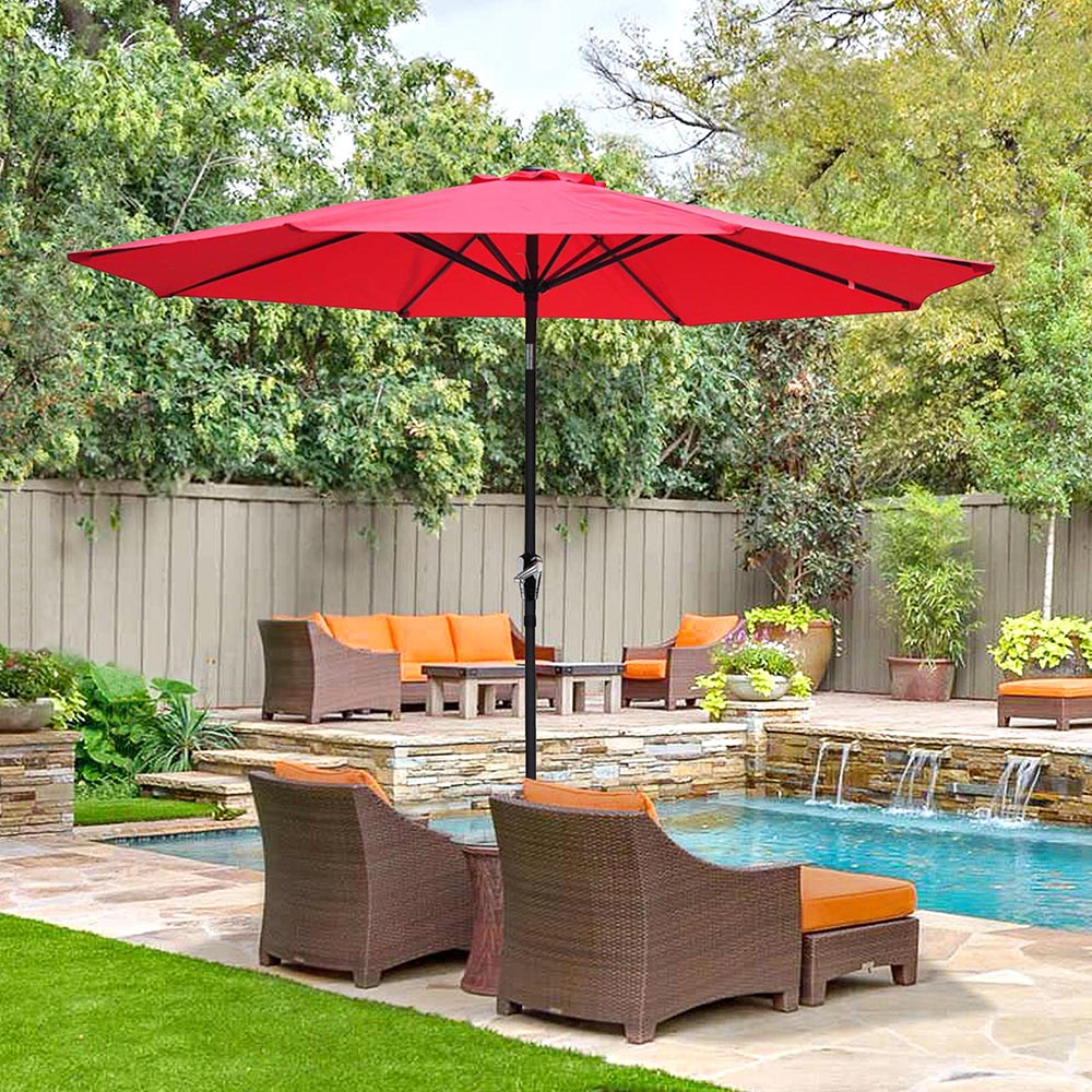 2-5m-2-7m-3m-Round-Square-Garden-Parasol-Shade-Outdoor-Patio-Umbrella-Crank-Tilt thumbnail 122