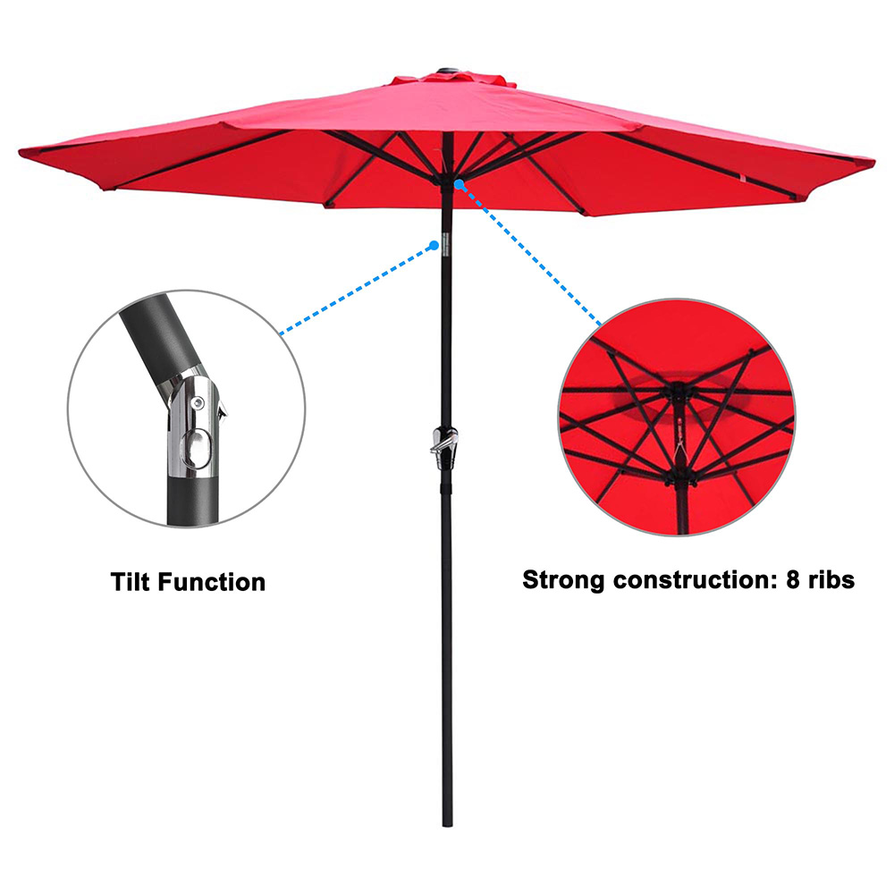 2-5m-2-7m-3m-Round-Square-Garden-Parasol-Shade-Outdoor-Patio-Umbrella-Crank-Tilt thumbnail 120