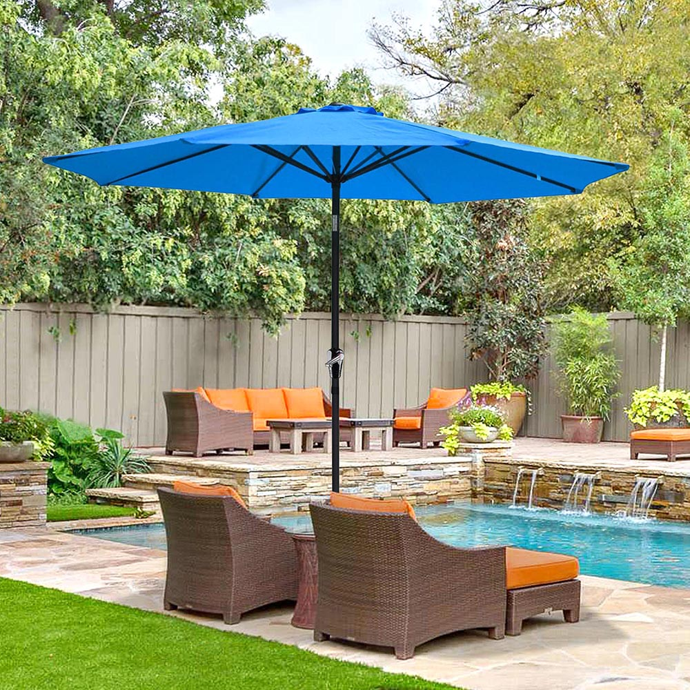 2-5m-2-7m-3m-Round-Square-Garden-Parasol-Shade-Outdoor-Patio-Umbrella-Crank-Tilt thumbnail 110