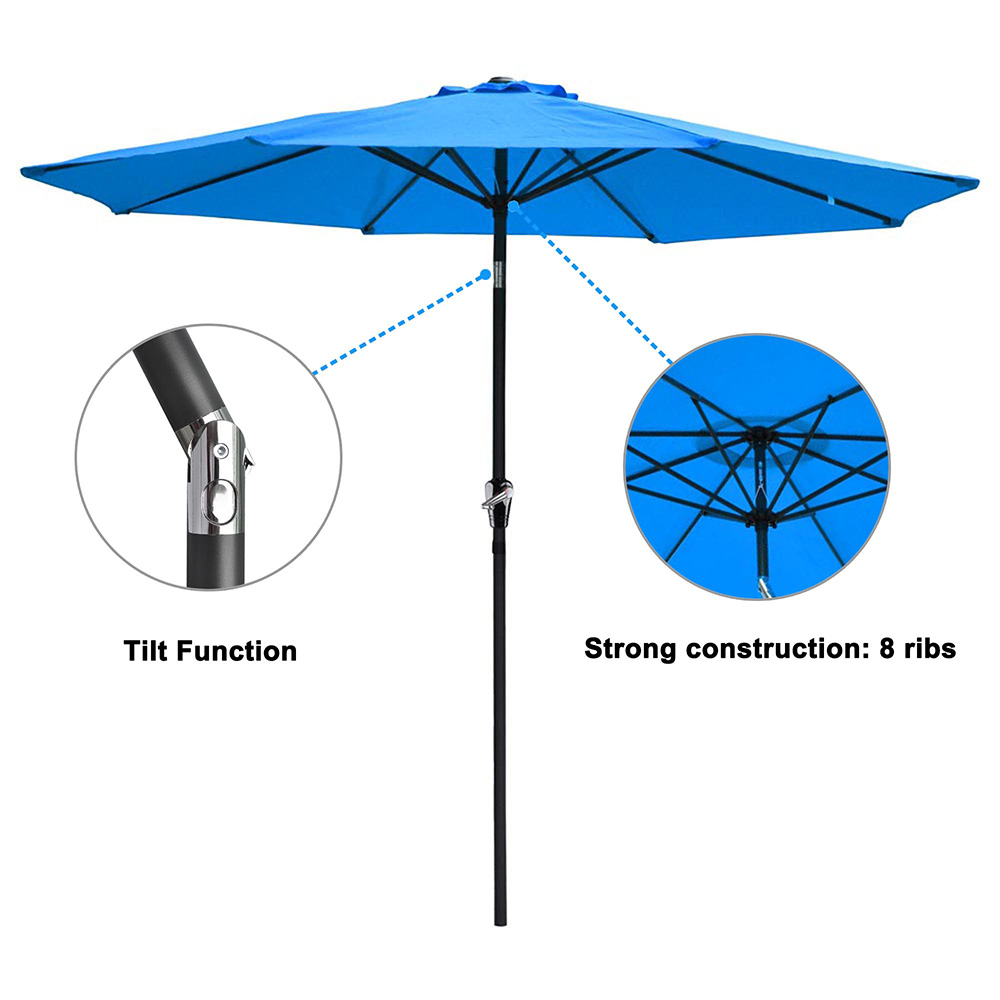 2-5m-2-7m-3m-Round-Square-Garden-Parasol-Shade-Outdoor-Patio-Umbrella-Crank-Tilt thumbnail 108