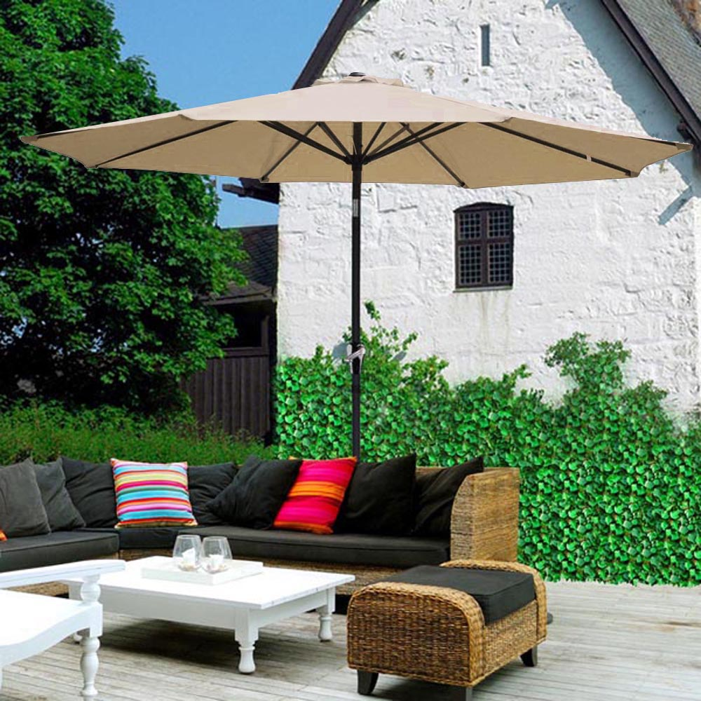 2-5m-2-7m-3m-Round-Square-Garden-Parasol-Shade-Outdoor-Patio-Umbrella-Crank-Tilt thumbnail 92