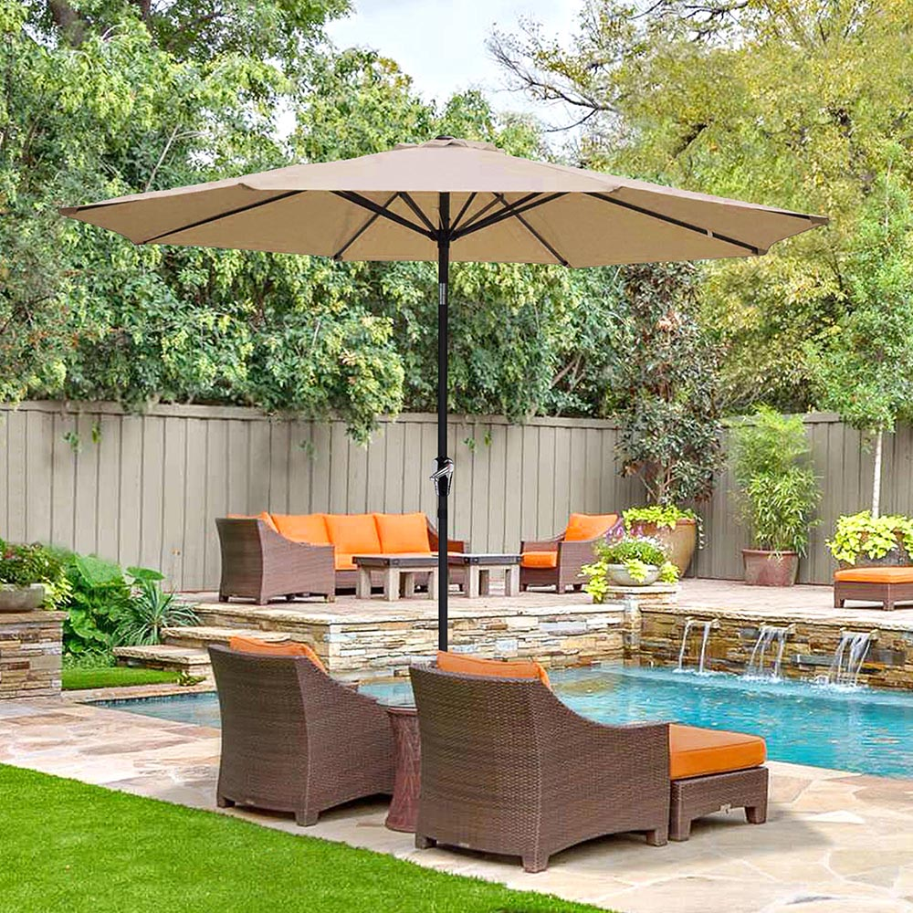 2-5m-2-7m-3m-Round-Square-Garden-Parasol-Shade-Outdoor-Patio-Umbrella-Crank-Tilt thumbnail 98