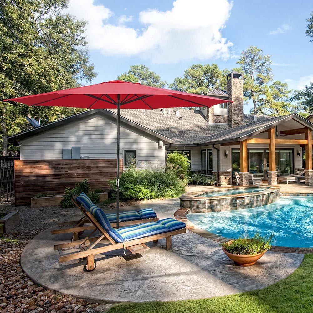 2-5m-2-7m-3m-Round-Square-Garden-Parasol-Shade-Outdoor-Patio-Umbrella-Crank-Tilt thumbnail 273