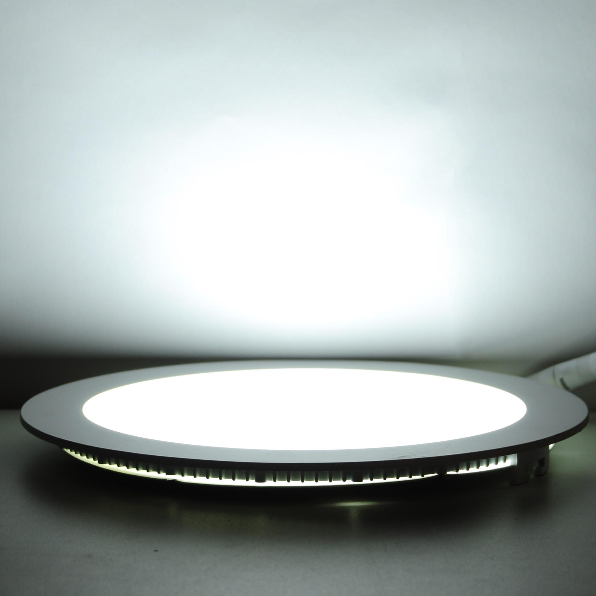 Round Recessed Ceiling Light: 9/12/18W LED Round Recessed Ceiling Flat Panel Down Light