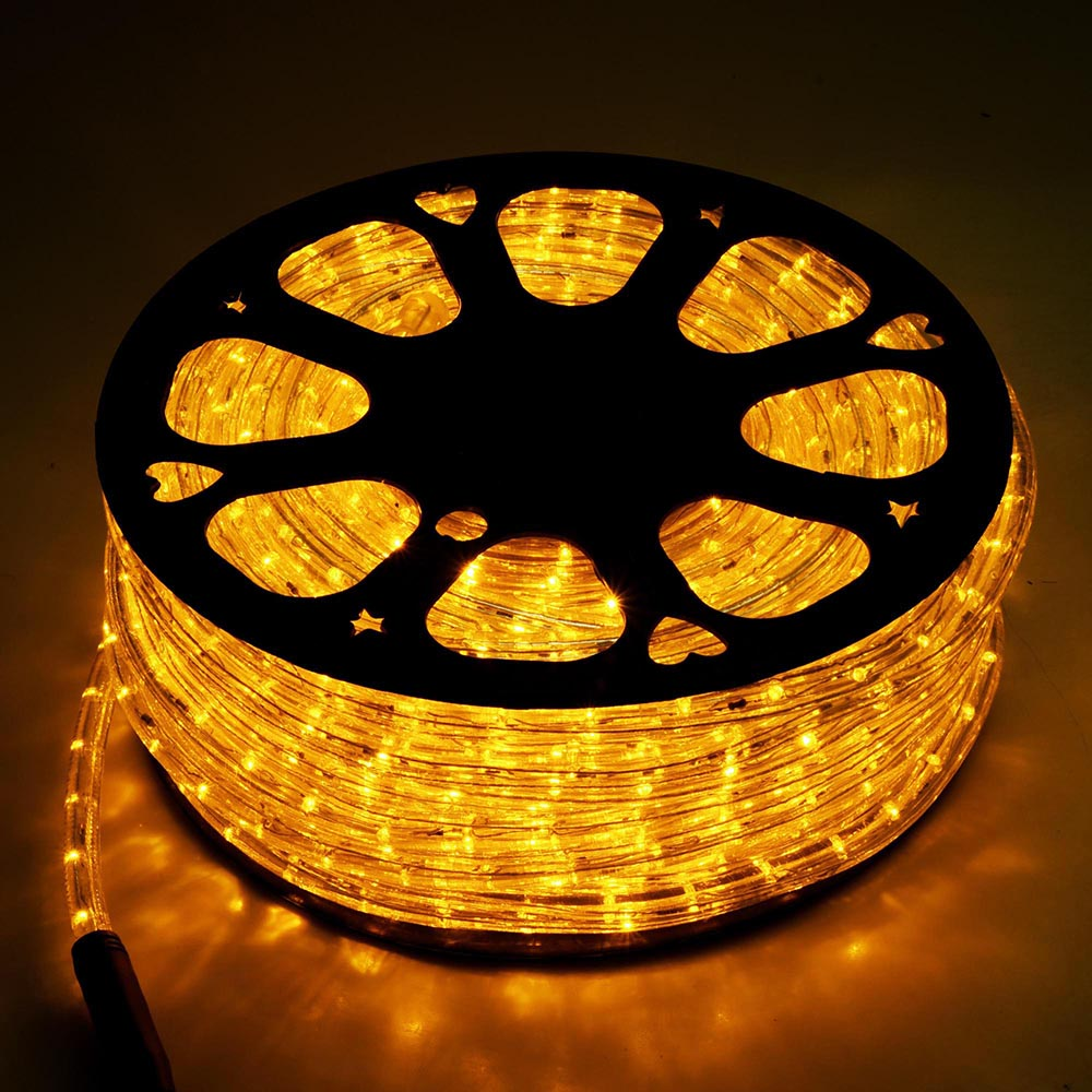 42m bright led rope light yellow cafe outdoor indoor home party
