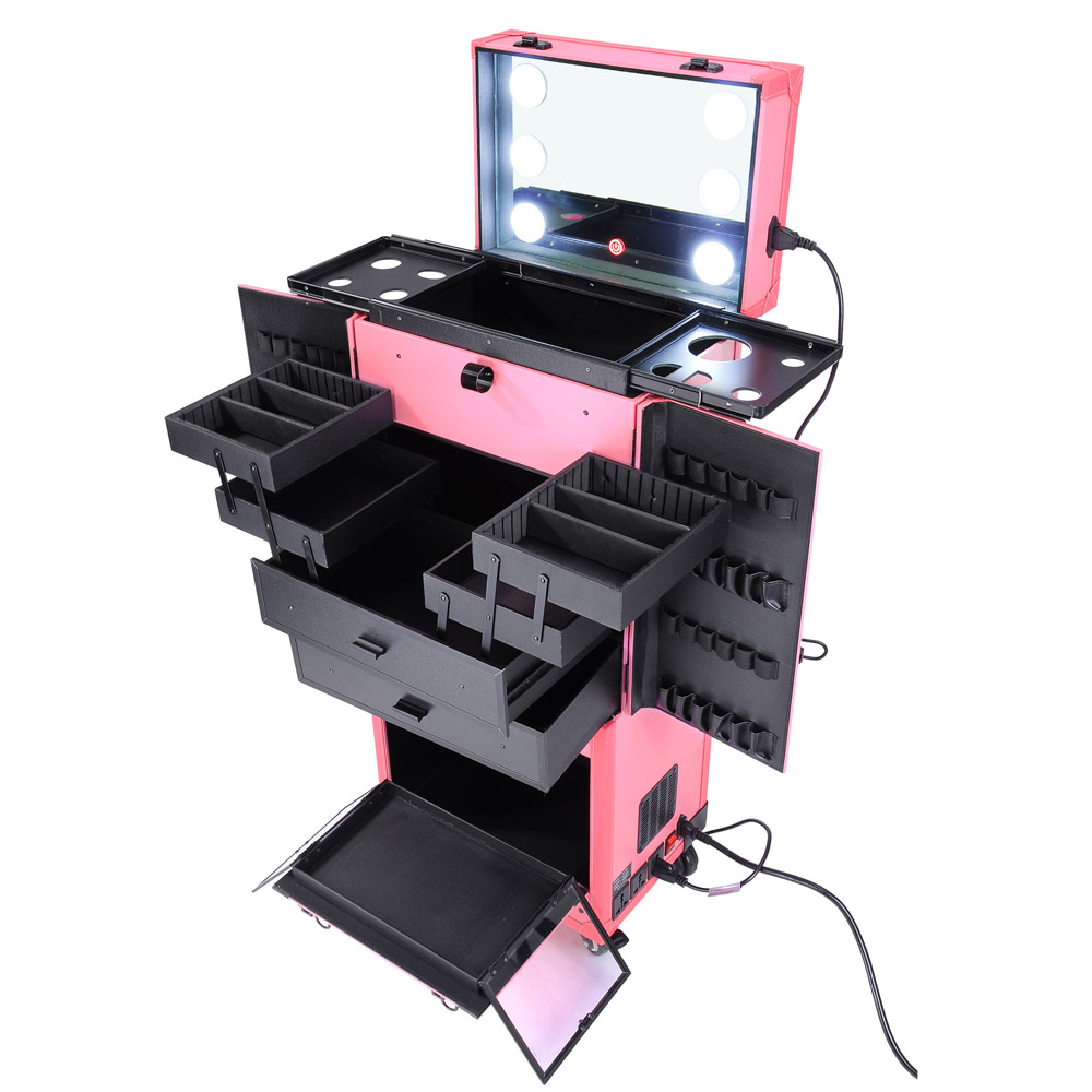 Cosmetic Makeup Show Artist Barber Travel Rolling Case