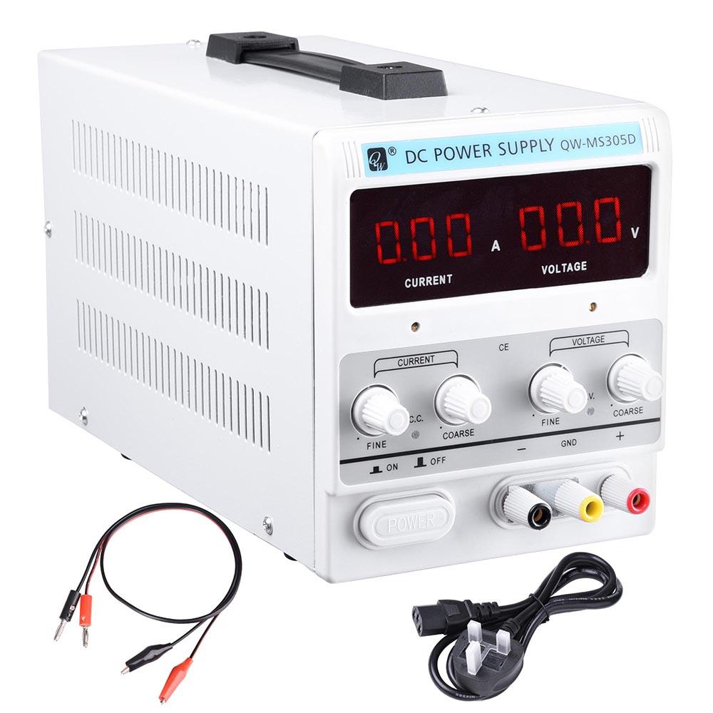 DC Power Supply 30V 5A Variable Precision Adjustable Dual Digital Lab Grade CE