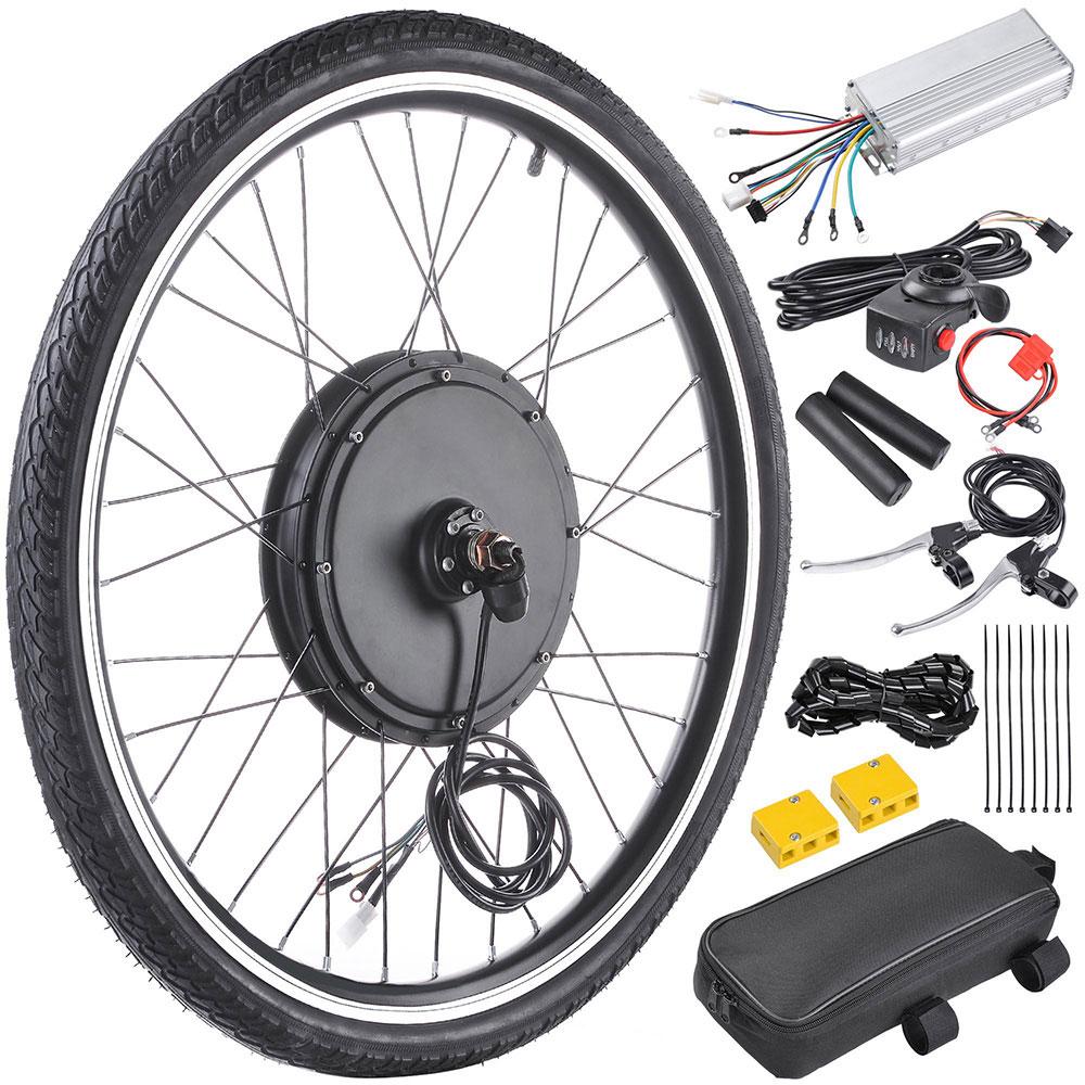 """thumbnail 9 - 26"""" Electric Bicycle E Bike Conversion Kit Cycling Front Rear Wheel 500W 1000W"""
