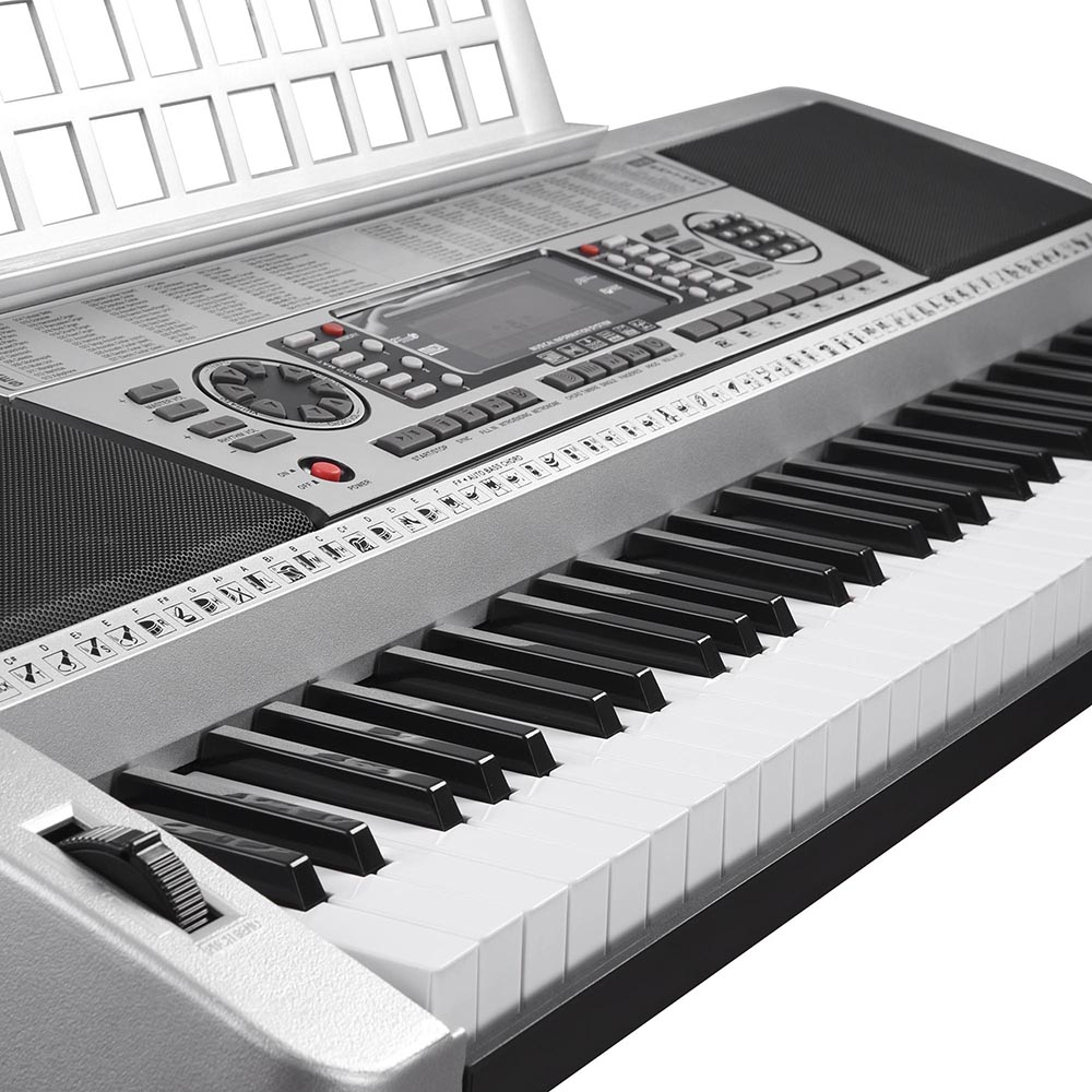 Details about 61 Key Digital Music Electronic Keyboard LCD Electric Piano  Organ X Frame Stand