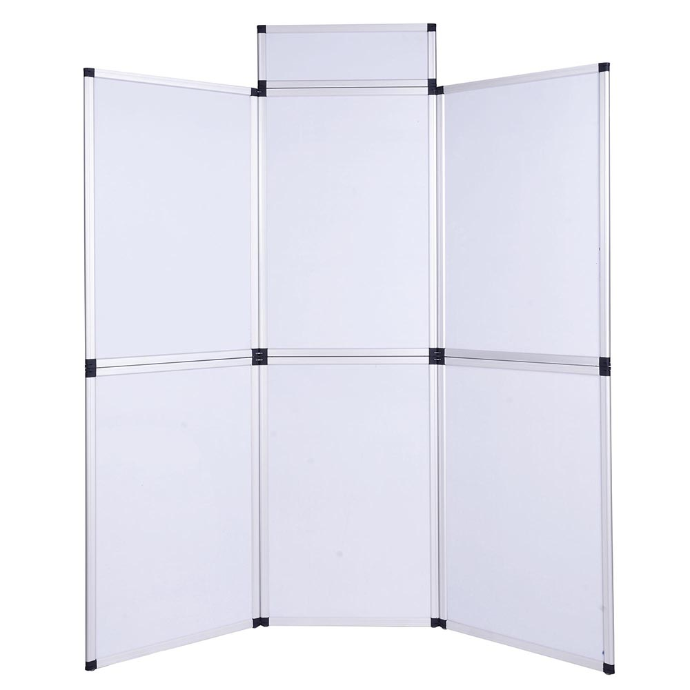 Folding flanne lette panel display aluminum frame office for Office display board