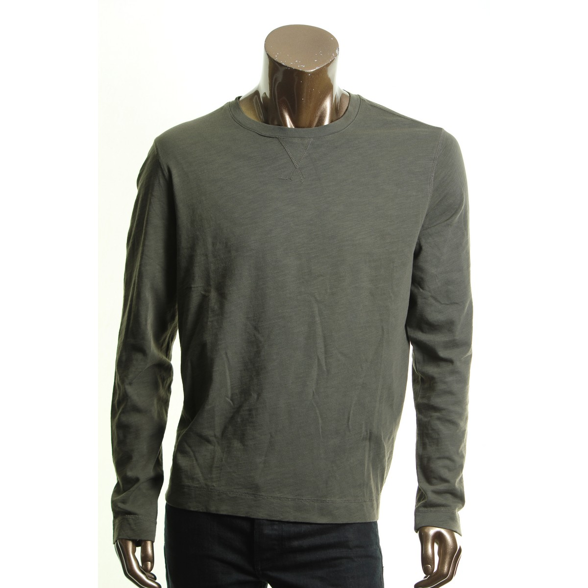 Calvin Klein New Men S Olive Green Crewneck Tee Shirt Tedo