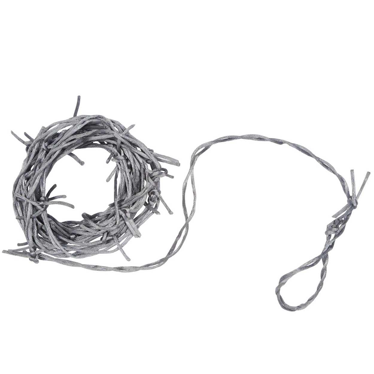Silver Barbed Wire Nylon Fake Decoration Dungeon Haunted House Prop ...