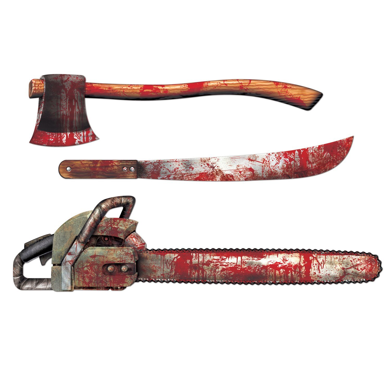 Halloween Cut Outs Cutout Bloody Weapons Weapon Gory Scenery ...