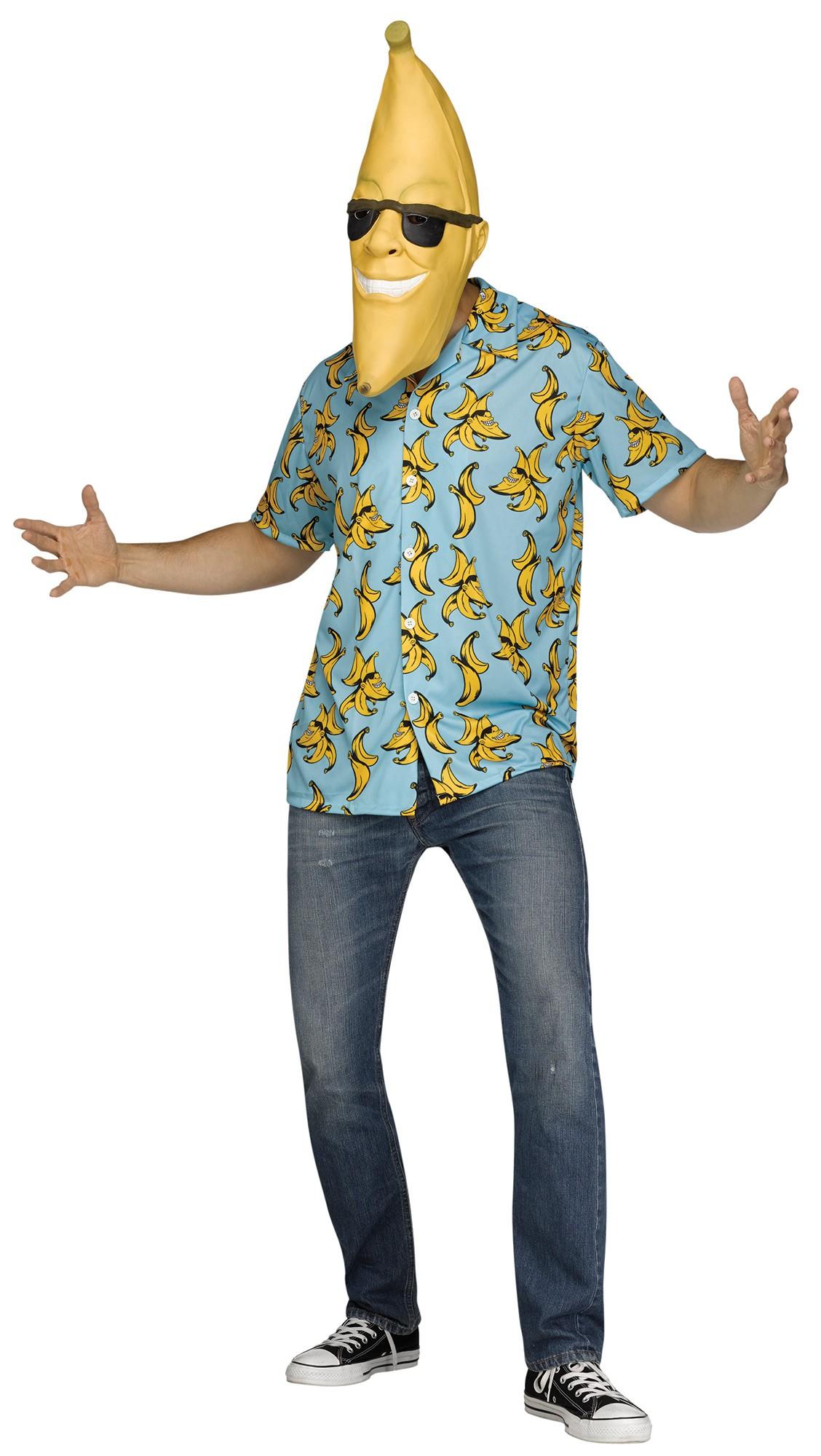 Goin Bananas Mr Banana Man Head Adult Costume Std -5947
