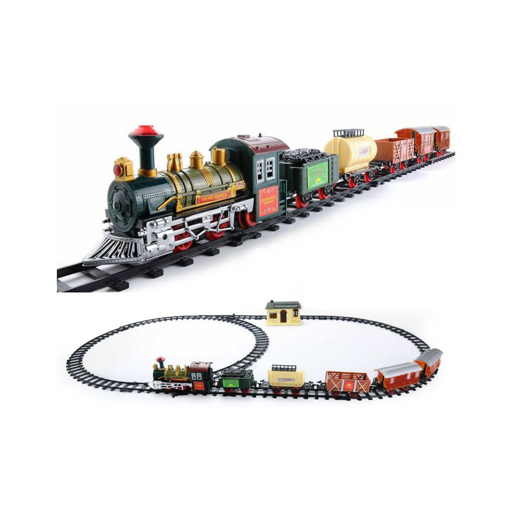 the deluxe continental classic battery operated kids toy train set light sound 693614134928 ebay. Black Bedroom Furniture Sets. Home Design Ideas