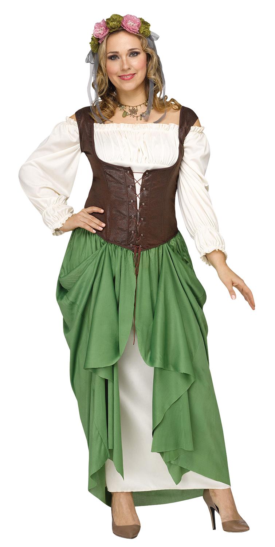 Details about Womens Plus Size Medieval Renaissance Oktoberfest Wench  Maiden Dress Costume