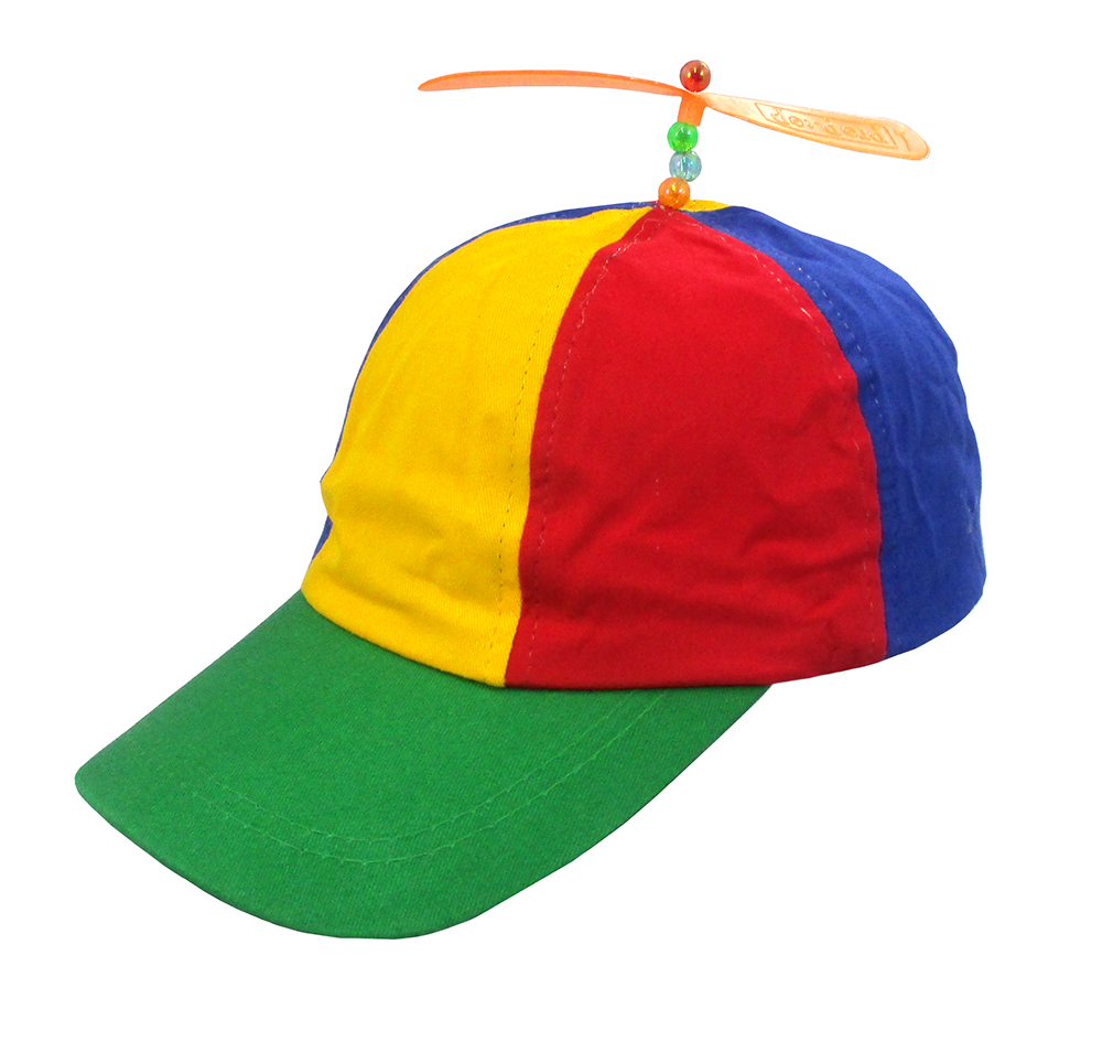 9dd381c63c1 Adult Propeller Beanie Hat Clown Costume Spinner Copter Helicopter Ball Cap