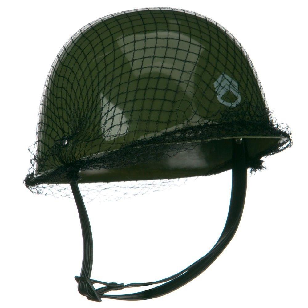Plastic Green Army Helmet Hat Military Soldier