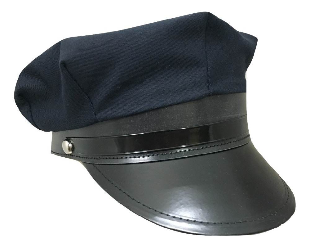 Police Costume Hat Chauffer Cap Navy Blue Chaffeur Limo Driver Police Cop  sc 1 st  eBay & Police Costume Hat Chauffer Cap Navy Blue Chaffeur Limo Driver ...