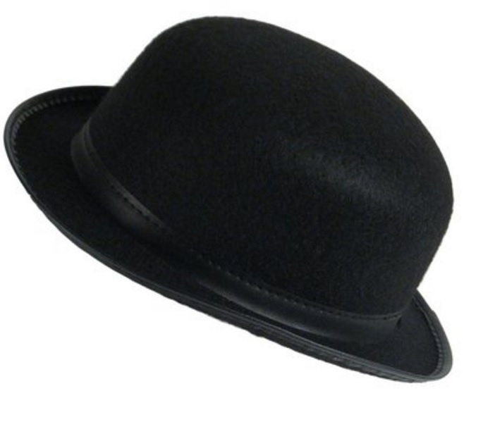 3761277df Details about Deluxe Black Permalux Derby Roaring 20'S Bowler Top Hat Adult  Costume Accessory