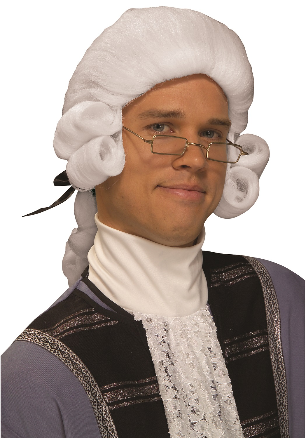 Colonial Historical Powdered White Wig Adult George Washington