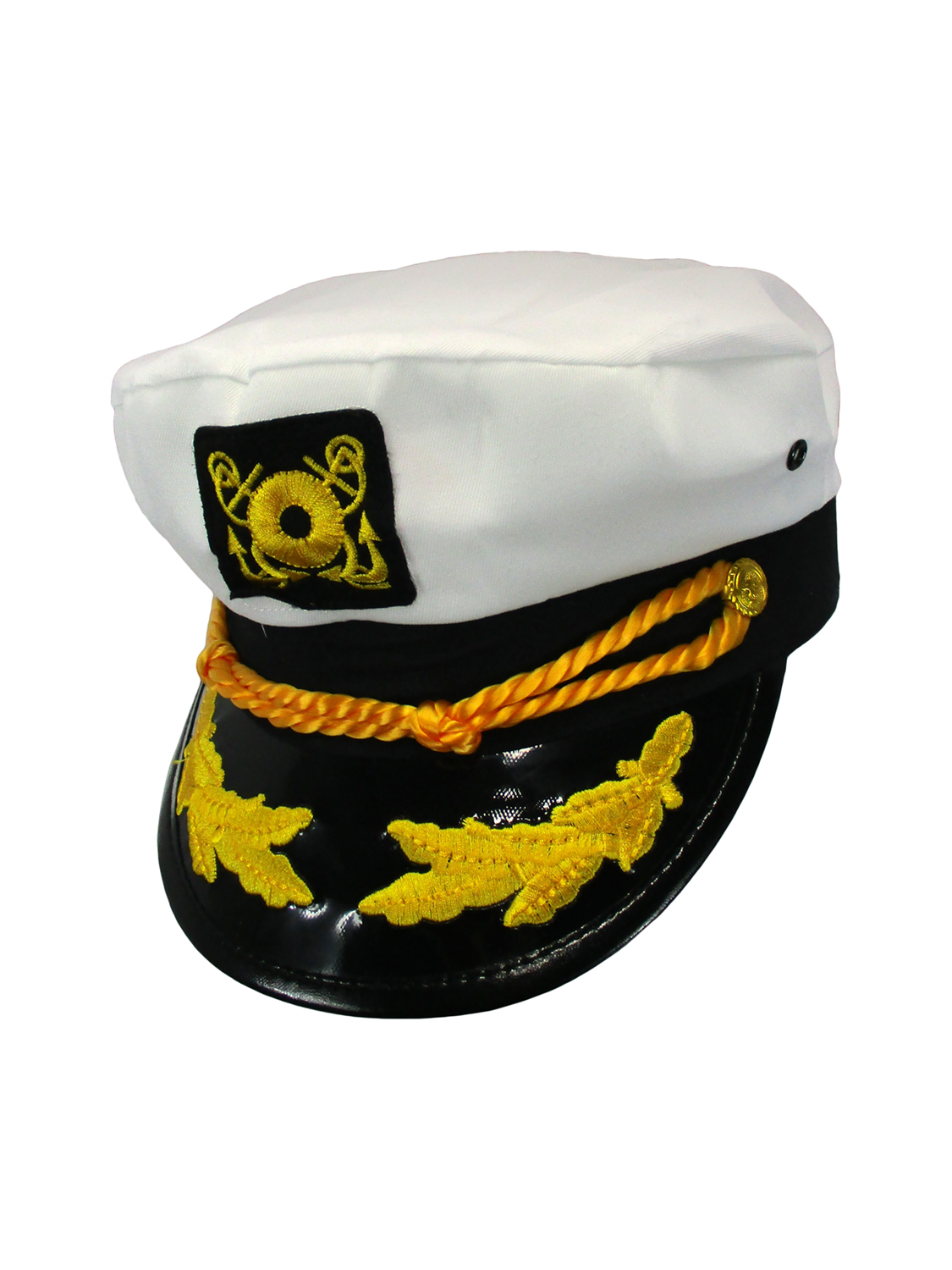 626add5117c Details about SAILOR SHIP YACHT BOAT CAPTAIN HAT NAVY MARINES ADMIRAL CAP  HAT WHITE GOLD 23400