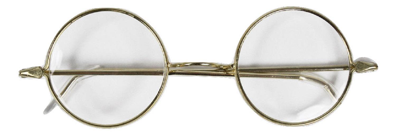 Round Mrs. Santa Claus Ben Franklin Gold Wire Frame Glasses Costume ...