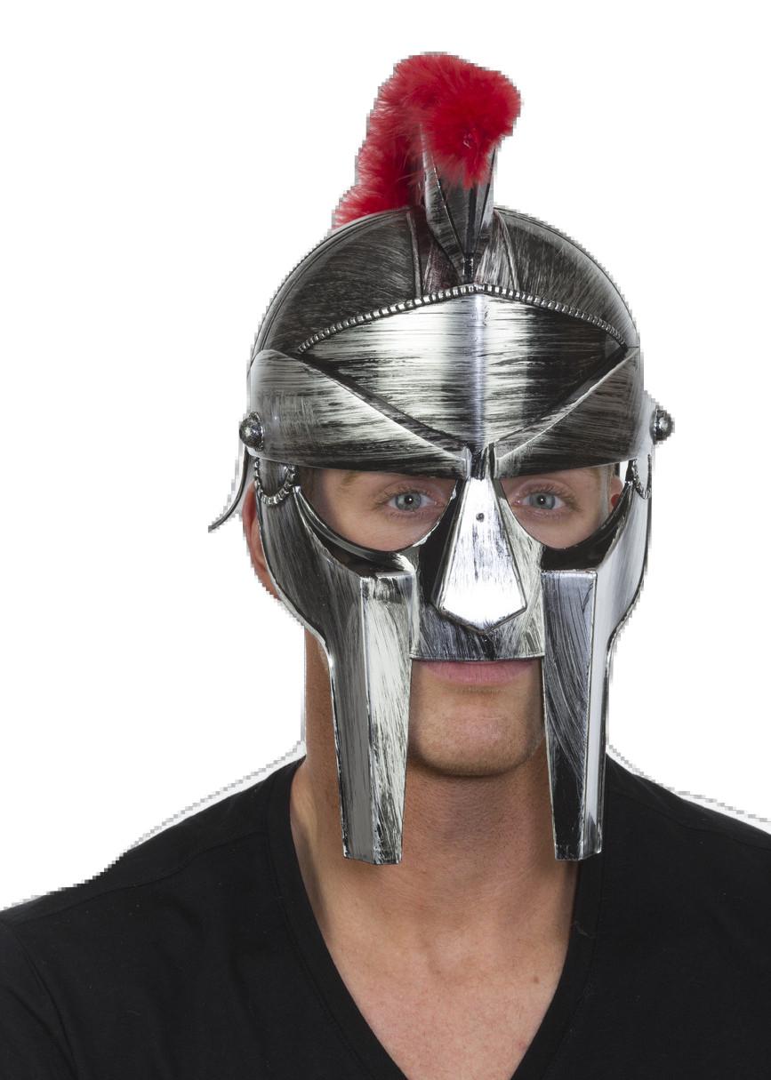 86d8e174420 Roman Centurion Spartan Trojan Gladiator Hat Helmet Mask Warrior Armor  Costume