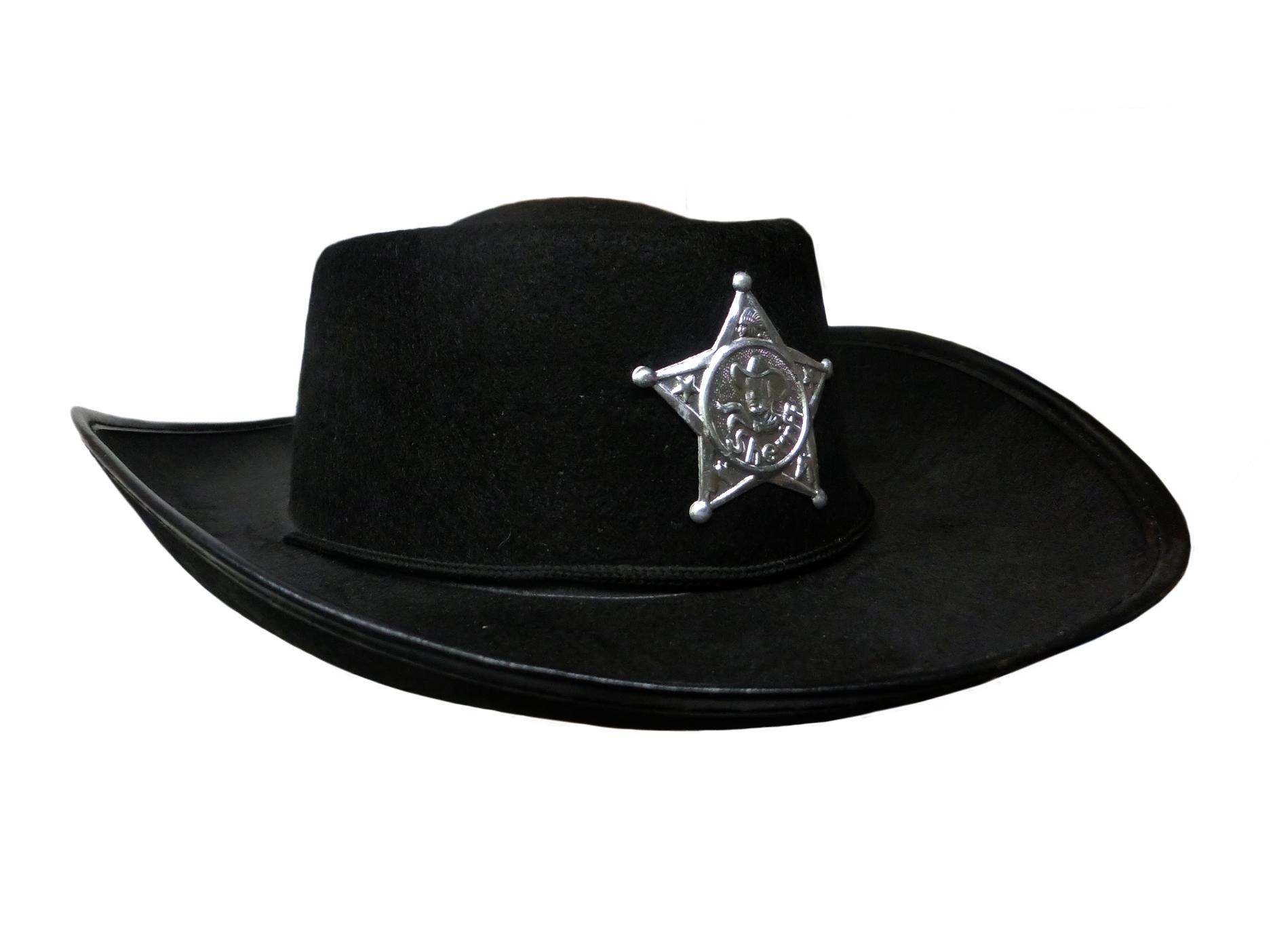Black Child Boys Cowboy Sheriff Hat Costume Accessory Lone Ranger Western  Prop 748affa500d
