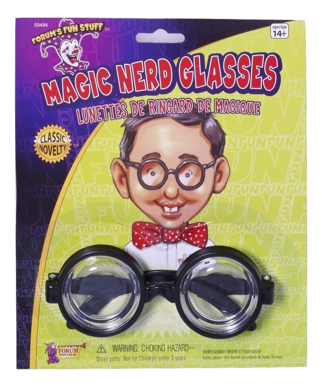 50/'s Nerd Dork Geek Black Coke Round Rim Glasses Costume Bug Eyes Bottle Specs