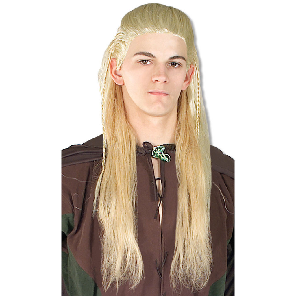Adult Mens Lord Rings Legolas Elf Long Blonde Hair