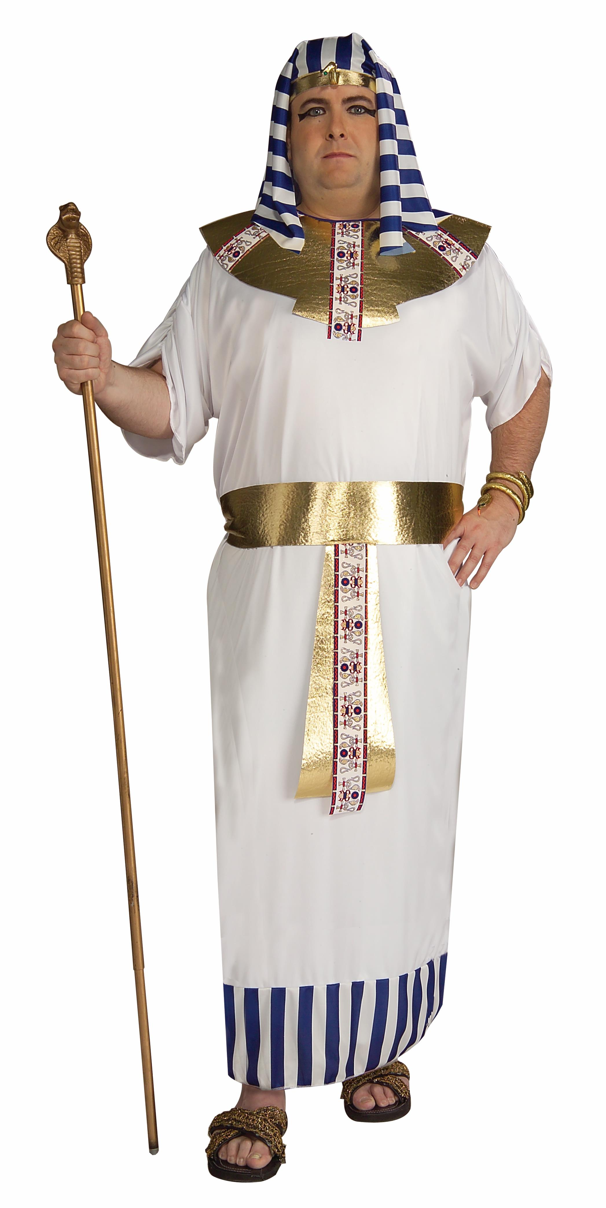 Adult Mens Pharaoh Egyptian Pyramid King Tut Ancient Egypt Costume Robe