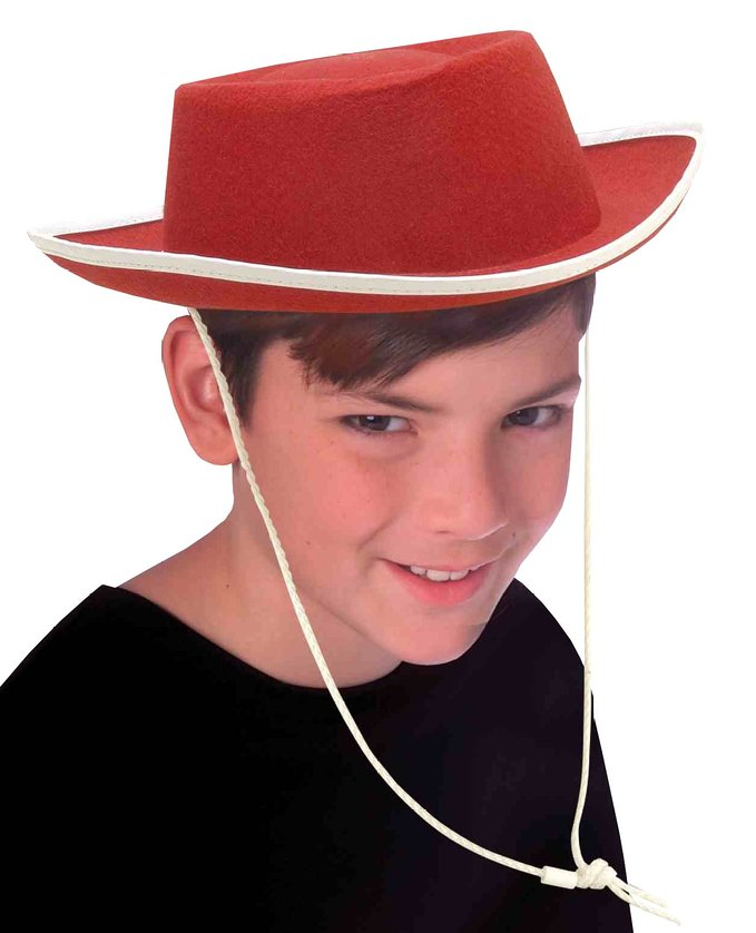 c3661929 Details about Child Red Cowgirl Cowboy Woody Jessie Western Hat Costume  Accessory