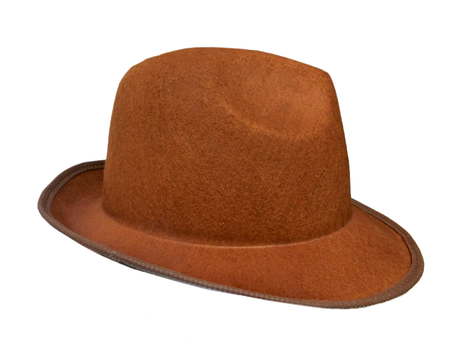 57833dbe36 Details about Top Hat Brown Gangster Felt Fedora 20S Mens Night Out Costume  Accessory