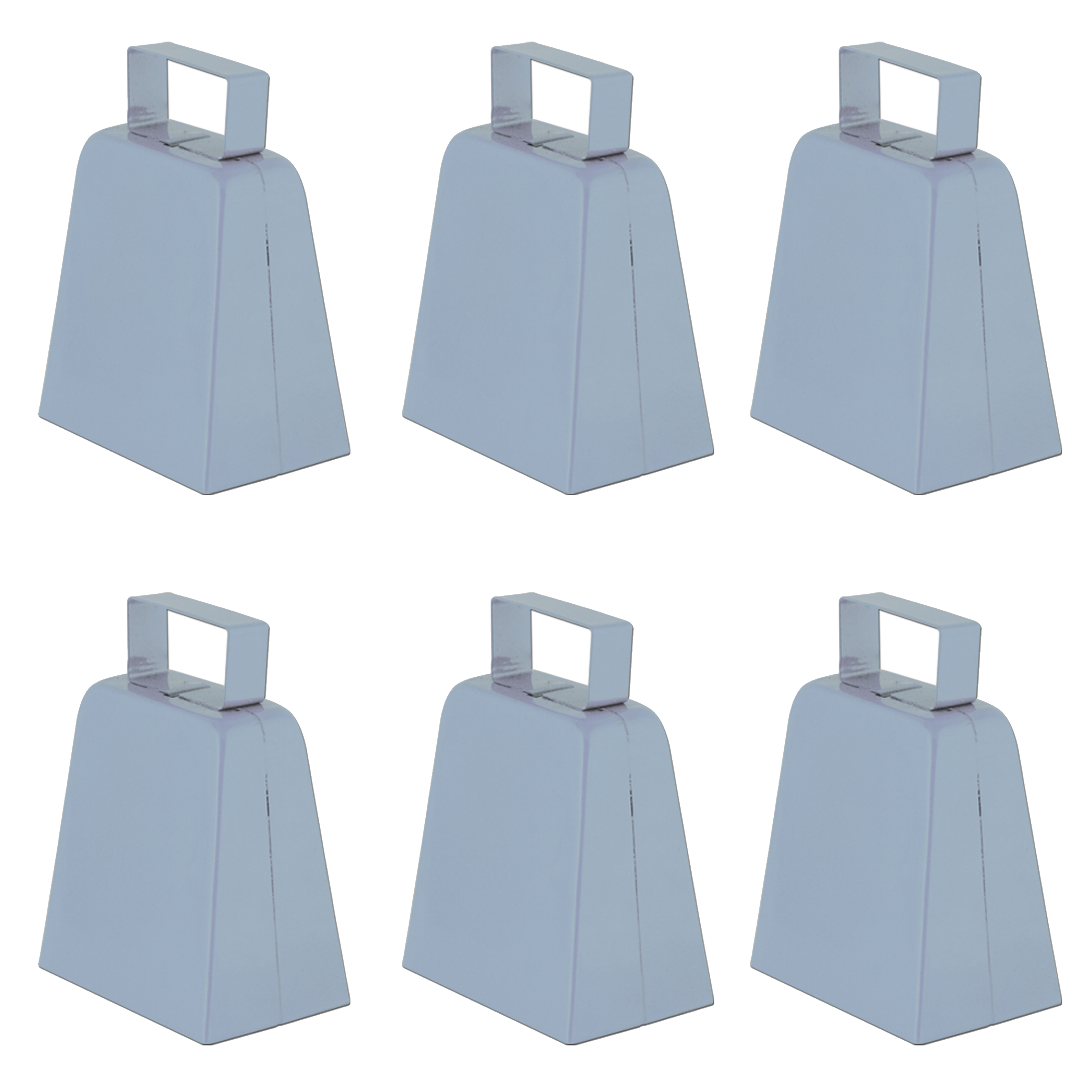 4 Set Of 6 Metal Cowbell Cow Bell Sports Toy Instrument Noisemaker