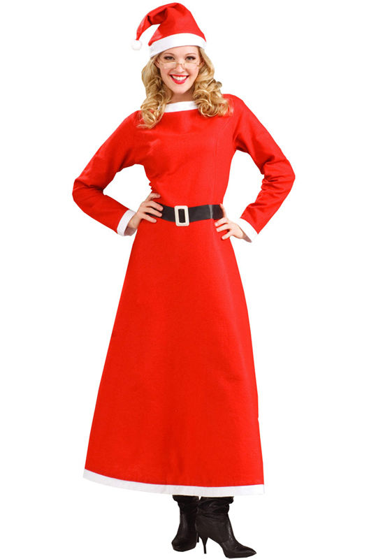 Details About Women S Simply Mrs Santa North Pole Santa S Wife Adult Christmas Costume Dress