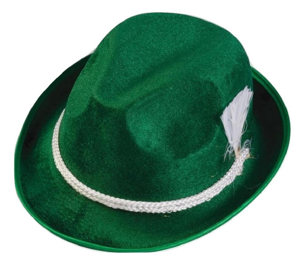 4c468612b343a7 Details about Oktoberfest German Alpine Hat Fedora Green Bavarian  Lederhosen Costume