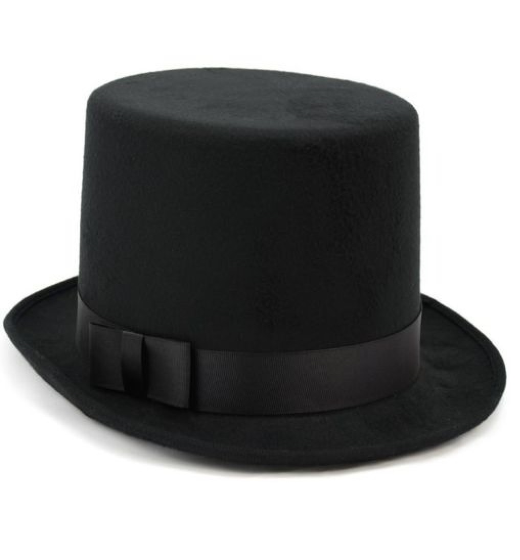 bf220102f80 Details about Mens Tuxedo Victorian Steampunk Black Costume Top Hat Deluxe  Felt High Wool Hat